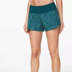 "Lululemon Speed Short Rise 2.5""Illusion Tidal Teal"